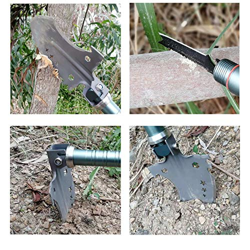 Rose Kuli Compact Military Folding Shovel, Portable Multitool, Tactical Entrenching Tool for Camping, Backpacking, Outdoor Hiking, Car, Garden, Snow, Heavy Duty Emergency Survival Gear by ROSE KULI (Image #7)