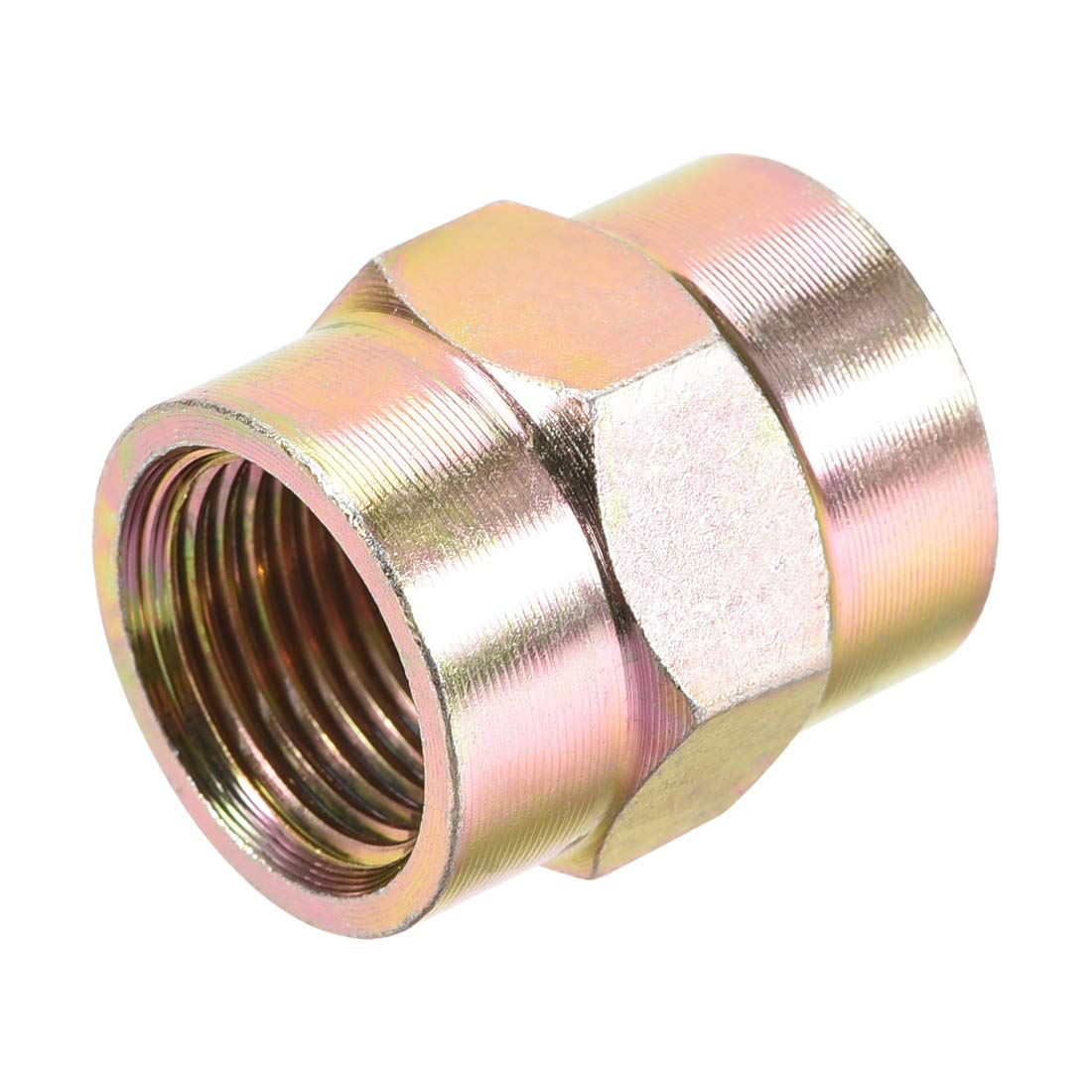 uxcell Pipe Fitting Connector Straight Hex Nipple Coupling 3//8 PT Female Thread Hydraulic Adapter 4pcs