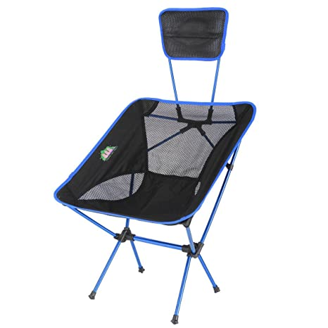 KING DO WAY Portable Ultralight Outdoor/Fishing Folding Sports Chairs  Ground Chair With Back Cushion