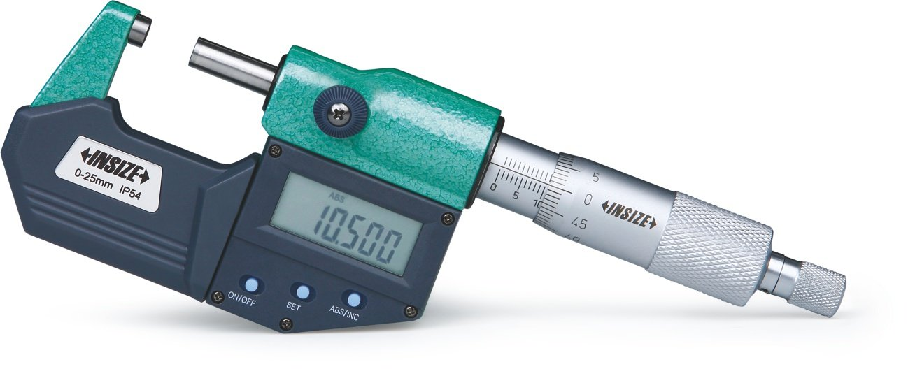 INSIZE 3108-75A Metric Digital Outside Micrometer, IP54, 50 mm-75 mm INSIZE CO. LTD