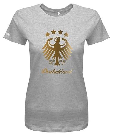 WM 2018 Deutschland Adler - 4 Sterne Gold - Damen T-Shirt