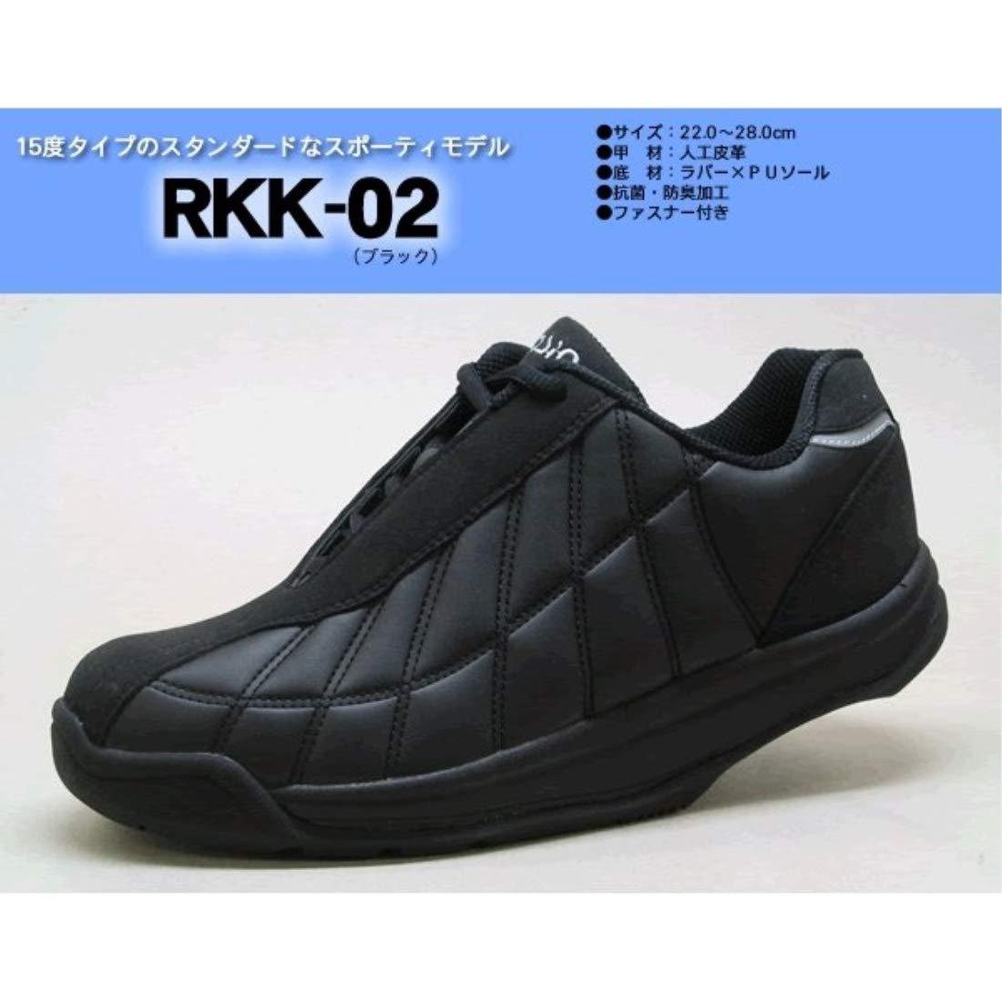日用品 ウォーキングシューズ 関連商品 かかとのない健康シューズ RKK-02 ブラック 24.5cm B076V7HW32