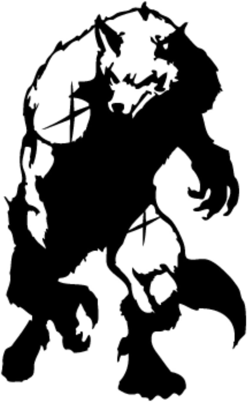 Werewolf Into Light - Tribal Decal [12cm Black] Vinyl Sticker for Car, Ipad, Laptop, Helmet