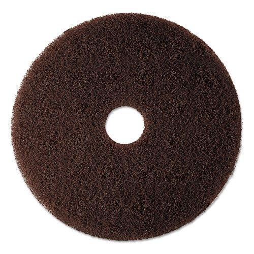 Low Speed Brown Stripping Floor - 3M 08444 Low-Speed High Productivity Floor Pad 7100, 16