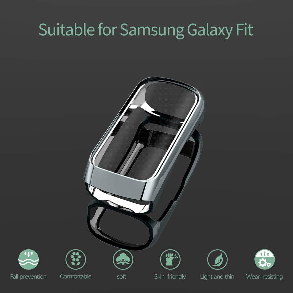 Silver Compatible pour Samsung Galaxy Fit SM-R370 /Étui Protecteur d/écran de Protection TPU Tout Autour Shell pour Samsung Galaxy Fit SM-R370 Snlaevx