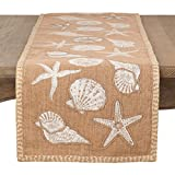 Fennco Styles Natural Sea Life Table Runner (16''x72'' Table Runner)