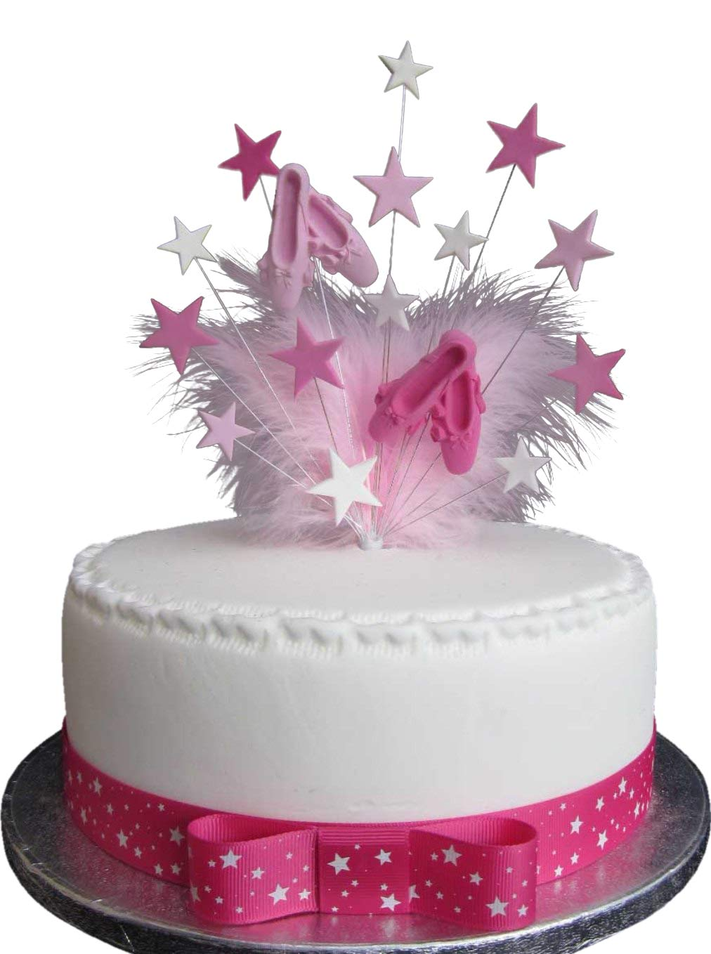 Cool Ballet Birthday Cake Topper With Marabou Feathers Ideal For A 20Cm Funny Birthday Cards Online Overcheapnameinfo