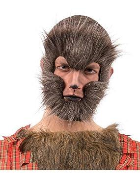 Horror-Shop media máscara de hombre lobo moteado: Amazon.es: Juguetes y juegos
