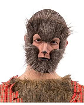 Horror-Shop media máscara de hombre lobo moteado