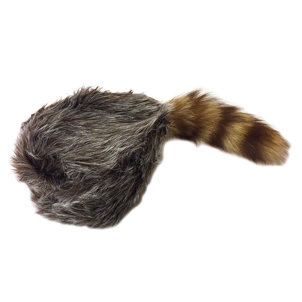 7ad7732f8a9 Amazon.com  Nekid Cow USA Authentic Davy Crockett Daniel Boone Real Tail  Cap Hat Large  Clothing