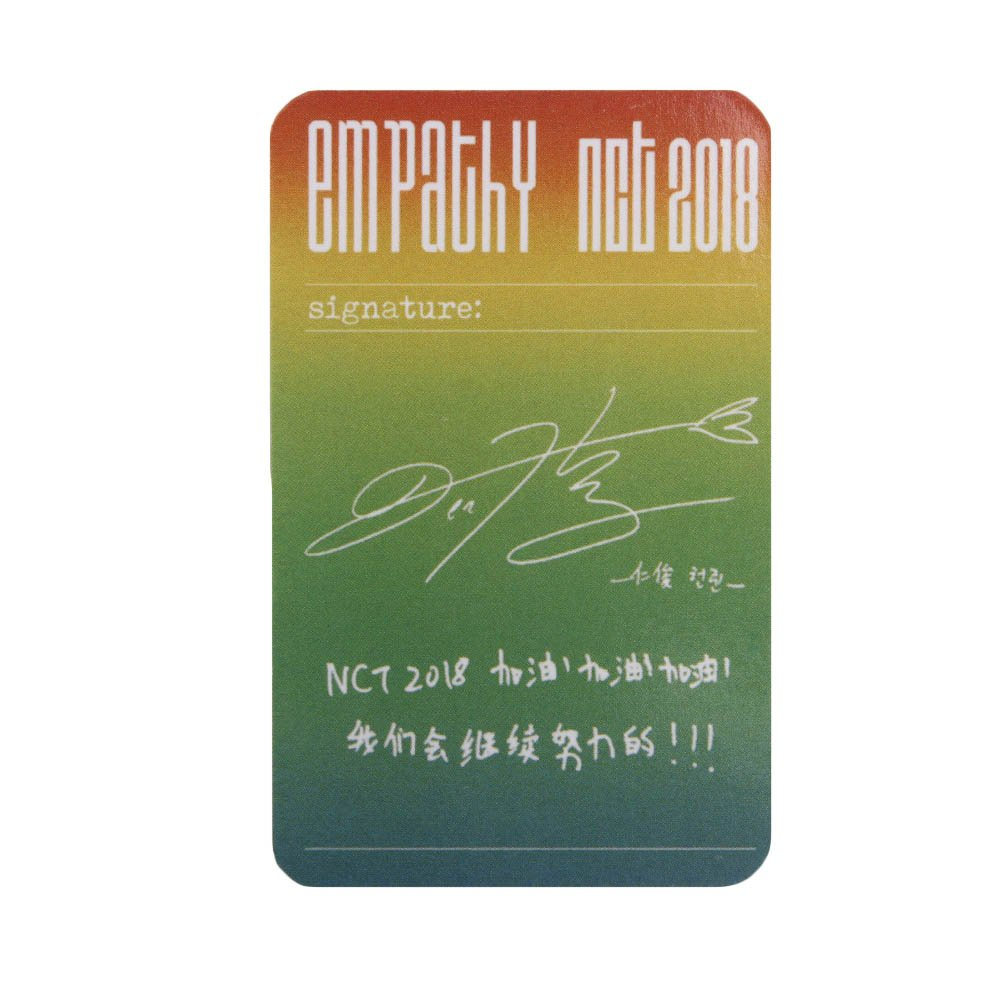 Bosunshine NCT 2018 Empathy New Ablum REALI Postcads Colletion Cards New Gift for Fans a-0002