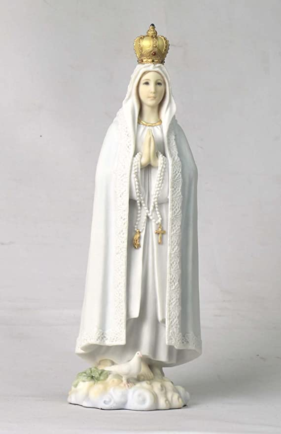 "23/"" NEW Our Lady of Fatima Statue Religious Figurine Virgin Mary Classic Paint"