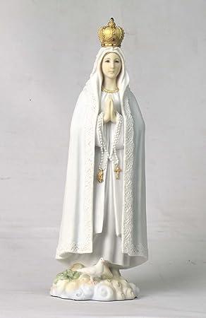 10.63 Inch Our Lady of Fatima Decorative Statue Figurine, White