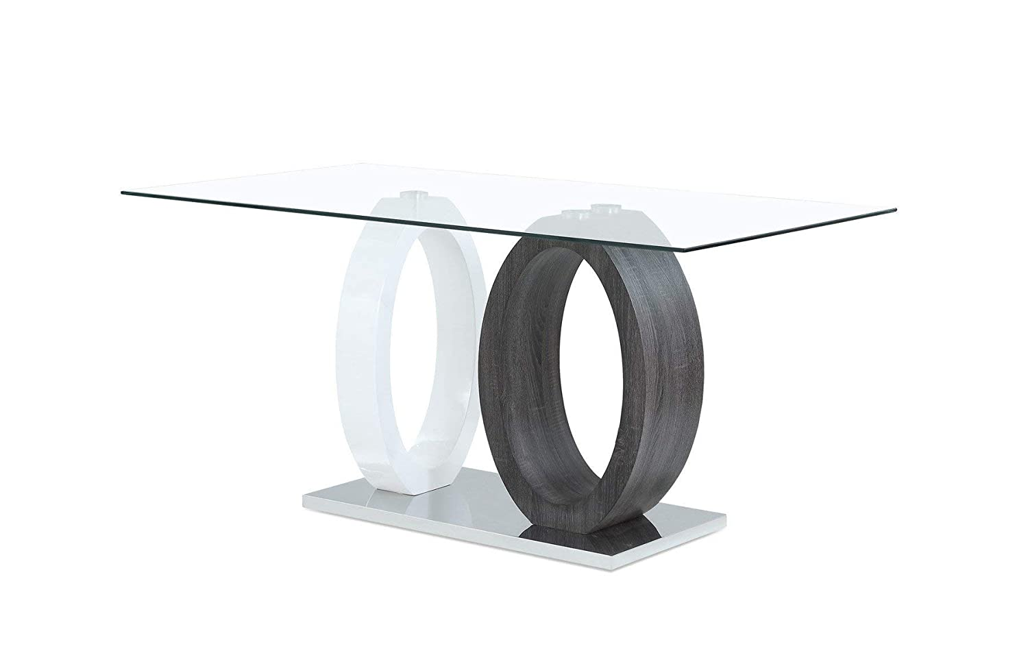 Global Furniture USA Oval Base Dining Table, Gray