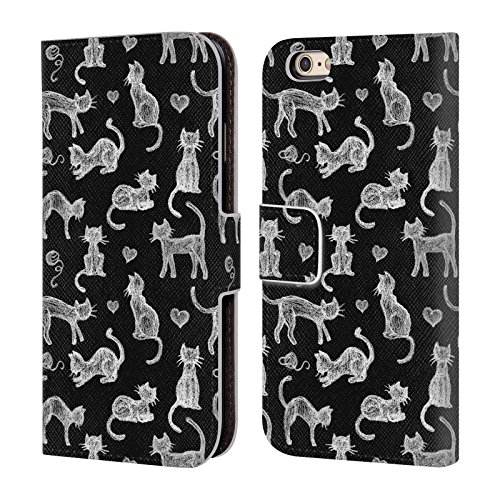 official-micklyn-le-feuvre-teachers-pet-chalkboard-cats-animals-leather-book-wallet-case-cover-for-a