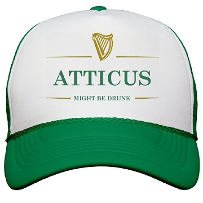 Atticus Might Be Drunk St Pat s  Snapback Mesh Trucker Hat  Amazon.ca   Clothing   Accessories 49bb7702837