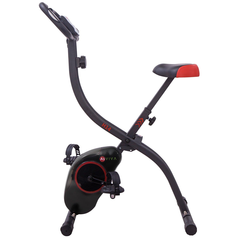 AsVIVA Ergometer Cardio H14 Sport Heimtrainer X-Bike, Schwarz, M