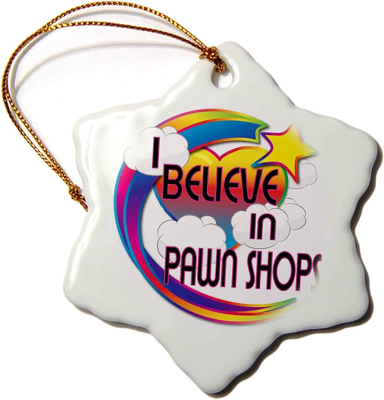 3dRose I Believe in Pawn Shops Cute Believer Design - Ornaments (ORN_166742_1)