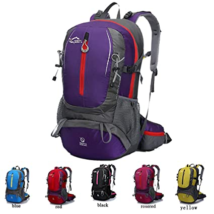 Cuckoo 35L Hiking Daypack Waterproof Backpacking Bag Outdoor Sport Backpack  for Climbing Mountaineering Camping Fishing Travel Cycling Skiing with Rain  ... ab7be486a4
