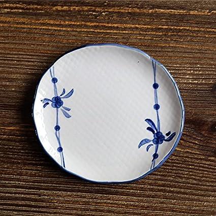 YUWANW Canción Japonesa Celadón De 5 Pulgadas De Café Plato De Aperitivo Plato Plato De Color