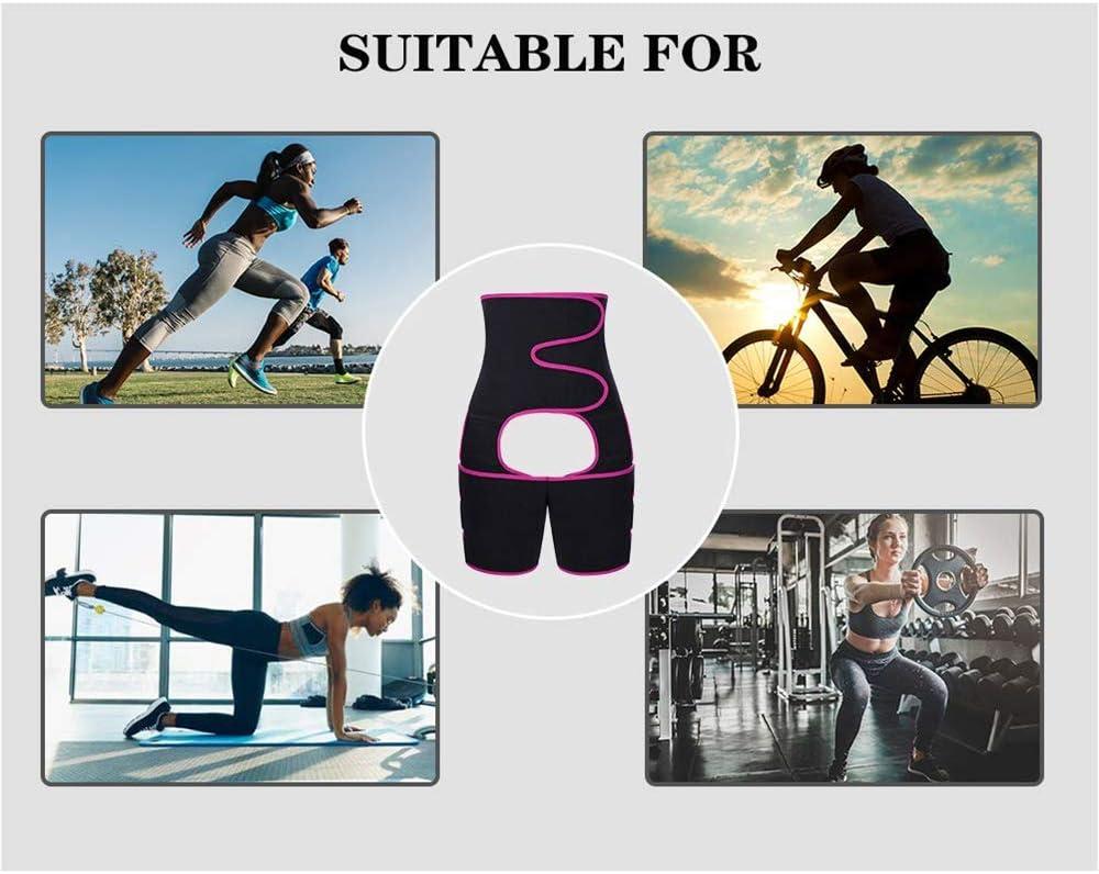 3-in-1 Waist Thigh Trimmer Butt Lifter Trimmer Belt for Squat Workout Fitness Haoky Waist Trainer for Women