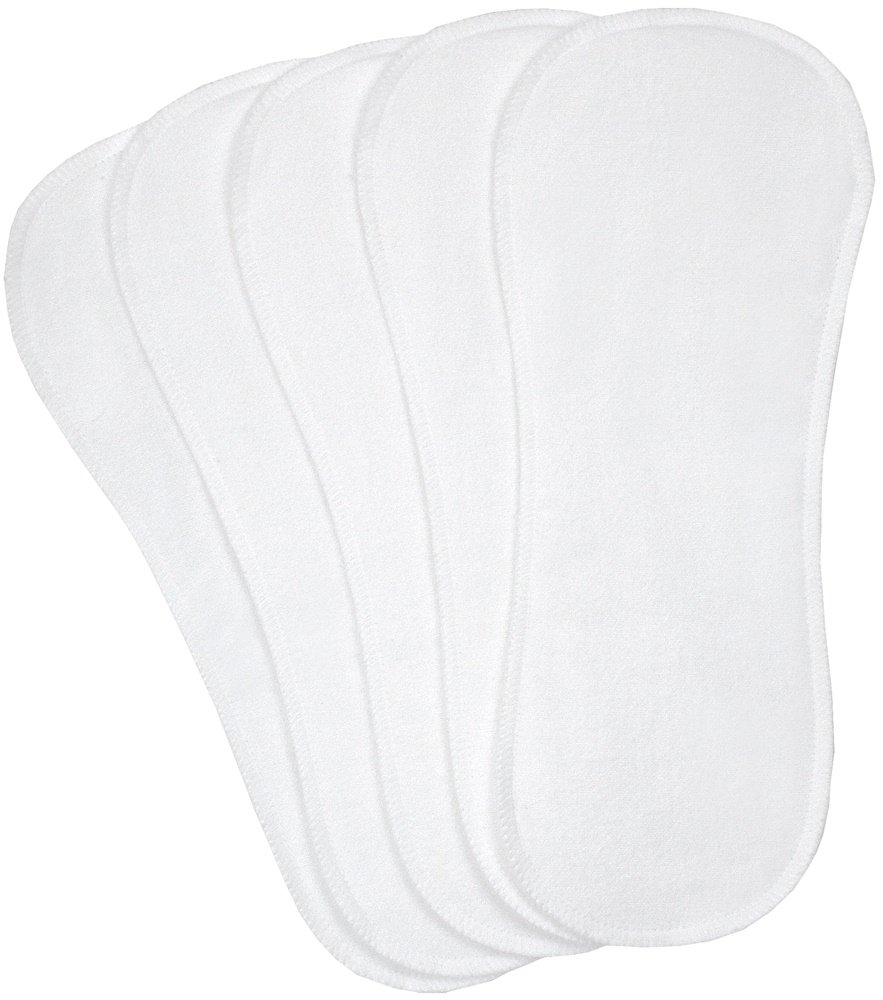 Kushies Washable 5 Piece Diaper Liners Pack, White, Infant/Toddler BabyKidsBargains D535