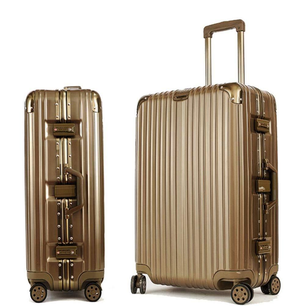 JaHGDU ABS & PC 荷物バッグ トロリー ユニバーサル 旅行 バケーション ビジネス 大容量 クラシック ソリッド カラー ホイール スーツケース 26インチ   B07PX1PCBF