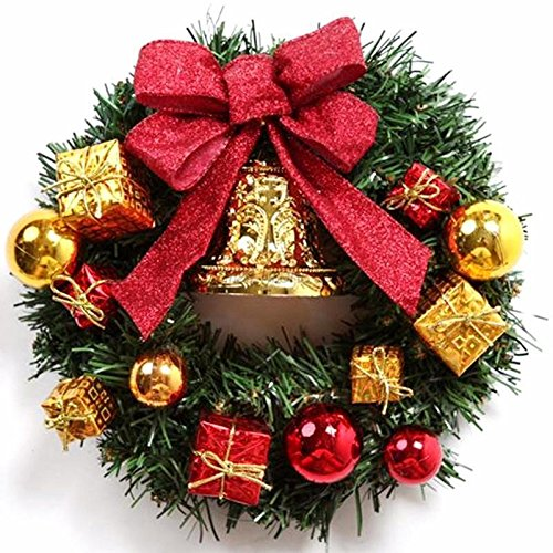 Christmas Xmas Tree Hanging Wreath Door Window Wall Ornament Garland Bell Decor (Home Decor Upscale Catalogs)