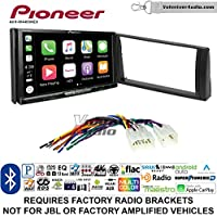 Volunteer Audio Pioneer AVH-W4400NEX Double Din Radio Install Kit with Wireless Apple CarPlay, Android Auto, Bluetooth Fits 2002-2006 Non Amplified Toyota Camry