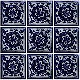 4x4 9 pcs Sun and Moon Talavera Mexican Tile