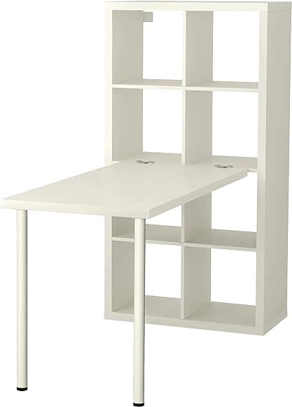 IKEA kallax librería con Escritorio, blanco 77 x 147 cm ...