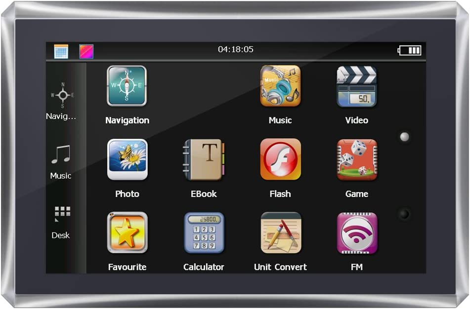 Qiilu Navegador CE.NET 6.0,5 pulgadas Pantalla TFT-LCD Tipo universal Coche Navegador GPS FM + 4G + DDR128M