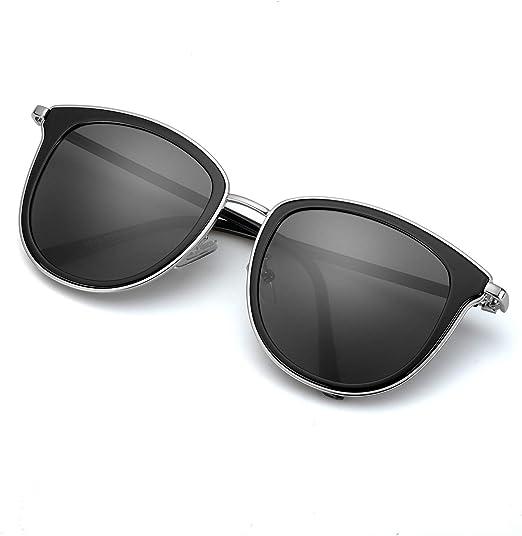 Womens Ladies Oversize Black Square Mirror Reflective Cat Eye UV400 Sun Glasses