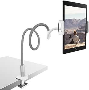 Lamicall Soporte Tablet, Multiángulo Soporte Tablet - Soporte con Cuello de Cisne para 2020 iPad Pro 10.5, 9.7, iPad Mini 2 3 4, iPad Air, Air 2, iPhone, Samsung Tab, Switch, Otras Tablets - Gris