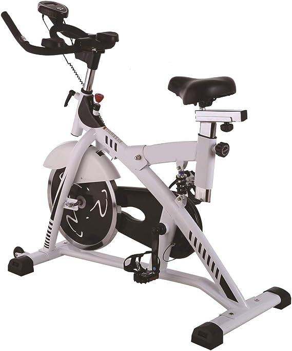 HLeoz Bicicleta Estática de Spinning, Sensor de Pulso Ajustable ...