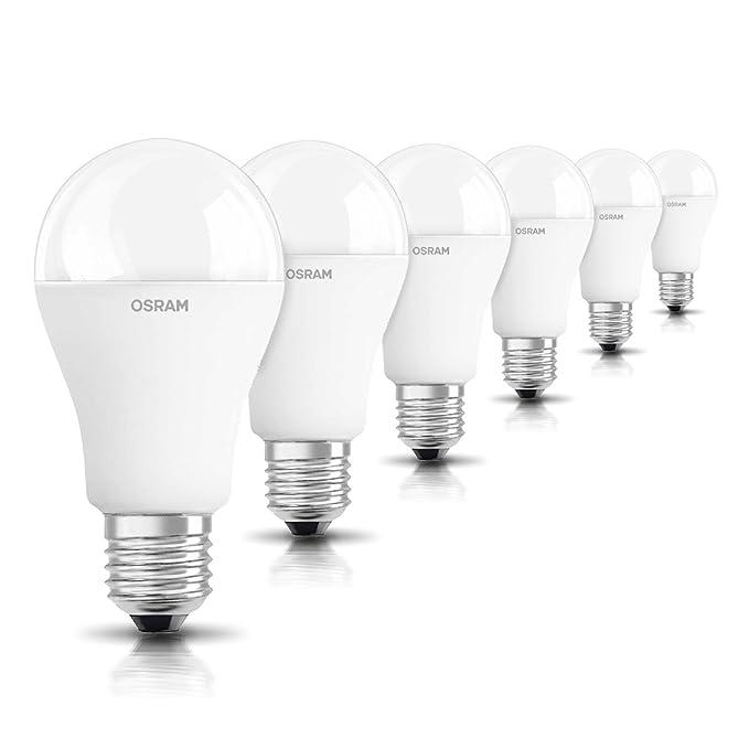 OSRAM 6-pack de bombilla LED de 14.5 W - Equivalente a 100 W, luz blanca cálida, E27 de rosca de tamaño grande, acabado mate, 1521 lumens,: Amazon.es: ...