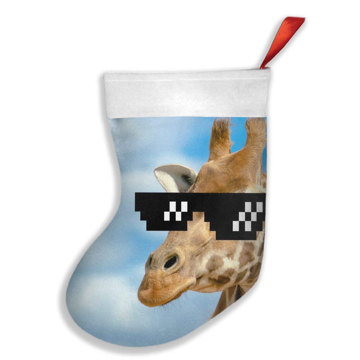 PO1 UP Sunglass Giraffes Christmas Holiday Stockings
