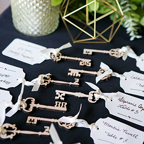 Wooden Skeleton Key Cutouts for Craft or Wedding