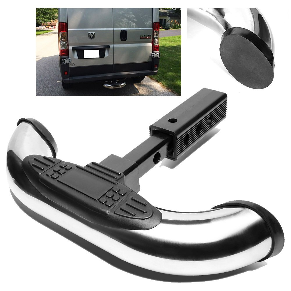 ModifyStreet 18//3 Chrome Stainless Steel Tube Hitch Step Bar for 1.25//2 Receivers