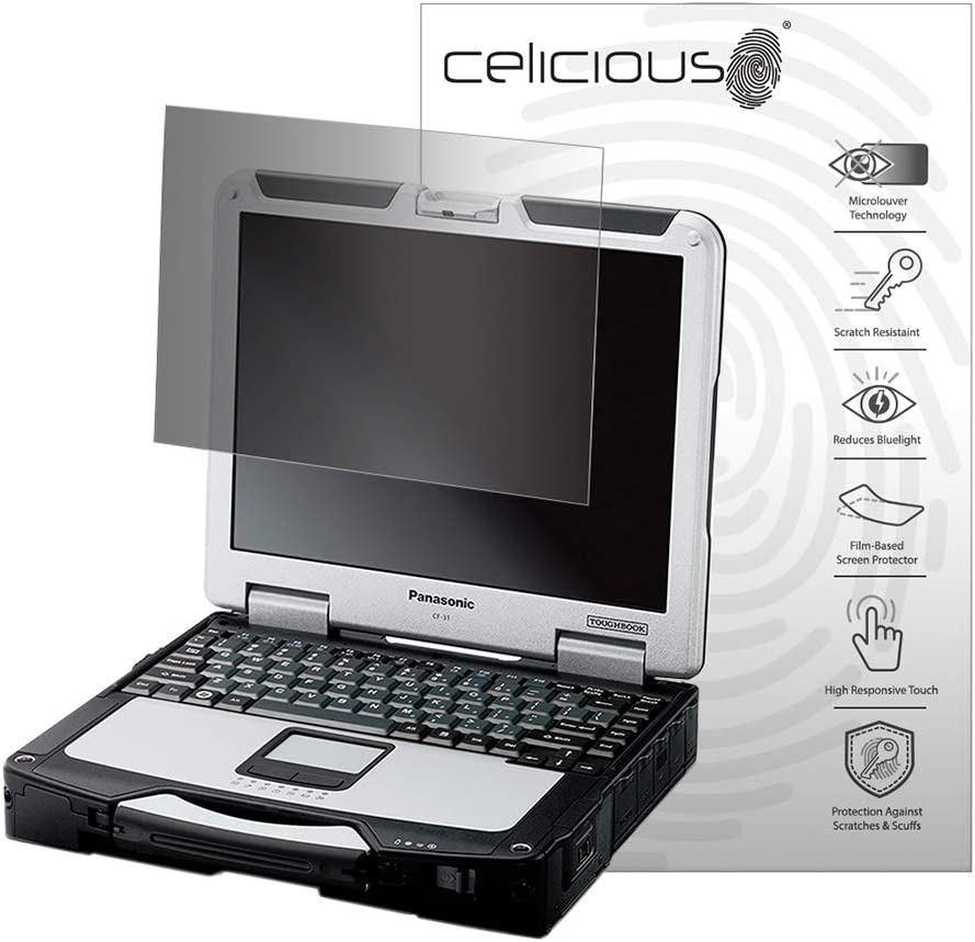 Celicious Privacy 2-Way Anti-Spy Filter Screen Protector Film Compatible with Panasonic Toughbook CF-31