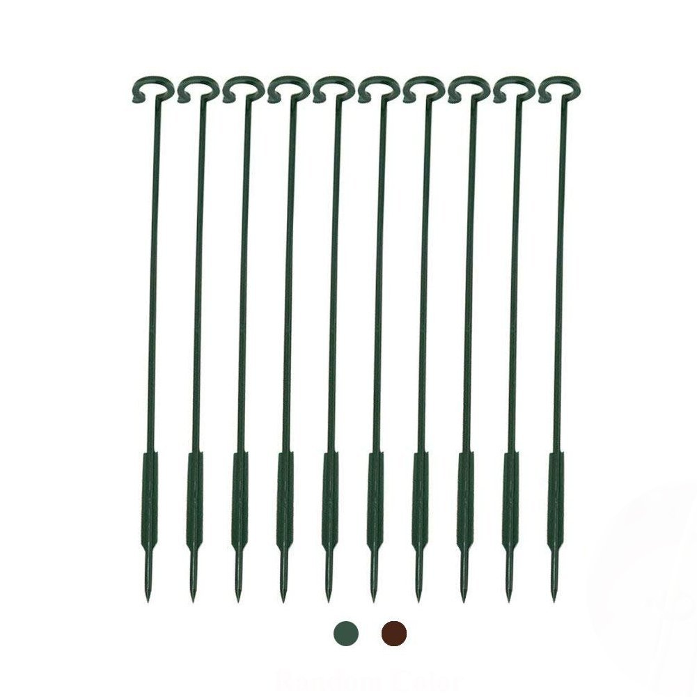 Exttlliy Plastic Garden DIY Plant Support Climbing Trellis Flower Supports for Chinese Rose/Orchid Stem Random Color (10Pcs) by Exttlliy