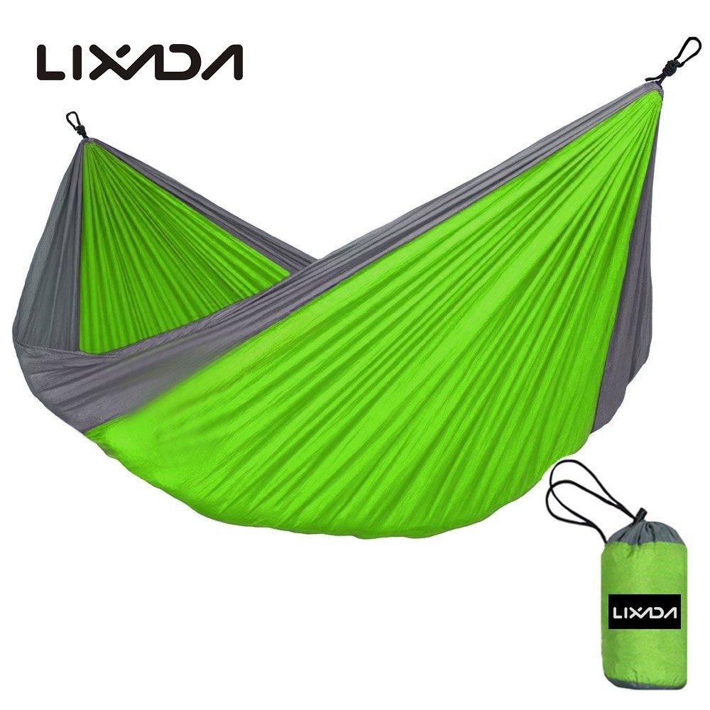 9966b6b7a Cunas y hamacas Lixada Hamaca Portátil Durable Compacto para 2 Personas de  Tela de Nylon para Viajar Cámping Acampada ...