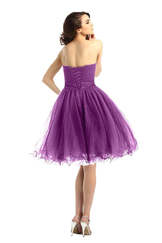 Promgirl House Damen Herz-Ausschnitt Prinzessin Strass Abiballkleid Ballkleider  Abschluss Feier Kurz: Amazon.de: Bekleidung