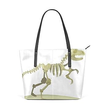 Amazon.com: Moda Teal Dinosaurio Skeleton Art Gifts Bolsas ...