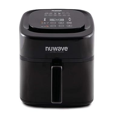 NuWave Brio Black 6 Quart Digital Air Fryer with 3 Piece Gourmet Accessory Kit