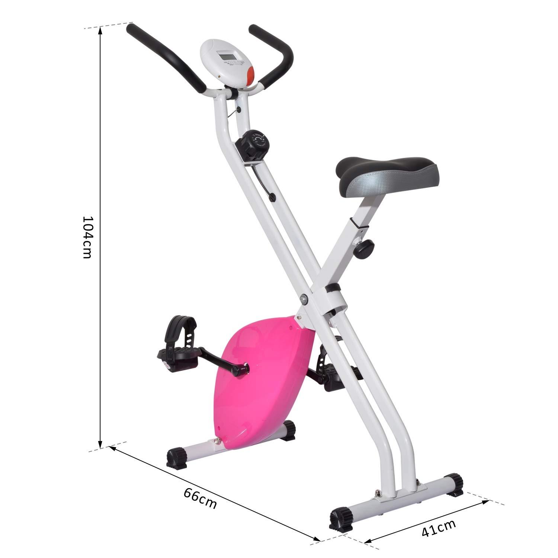 Outsunny Bicicleta Estática de 8 Niveles con Pantalla Digital para ...