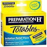 Preparation H Totables Irritation Relief Wipes - 10 Ct., Pack of 4