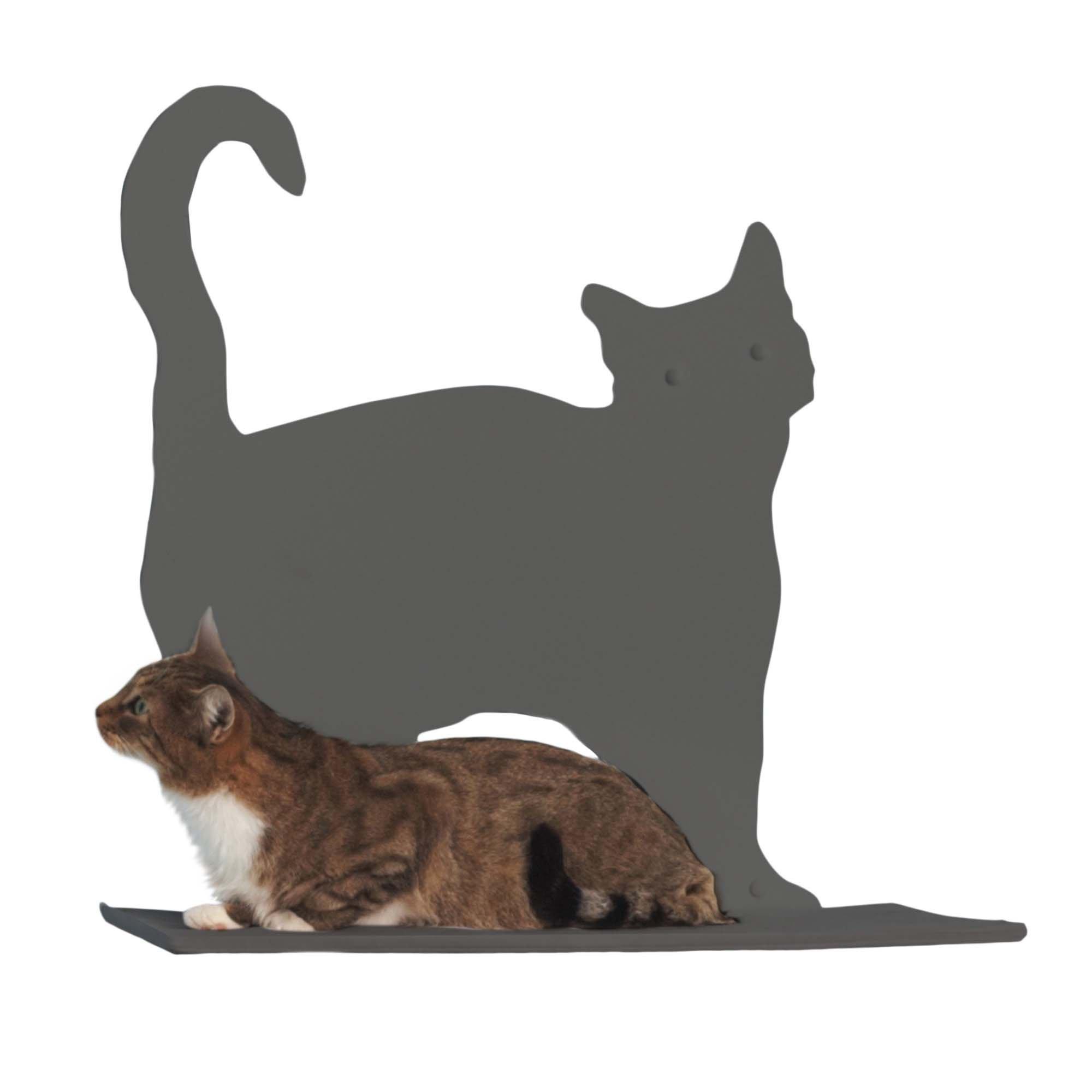 Cat Silhouette Cat Shelf Prance - Titanium