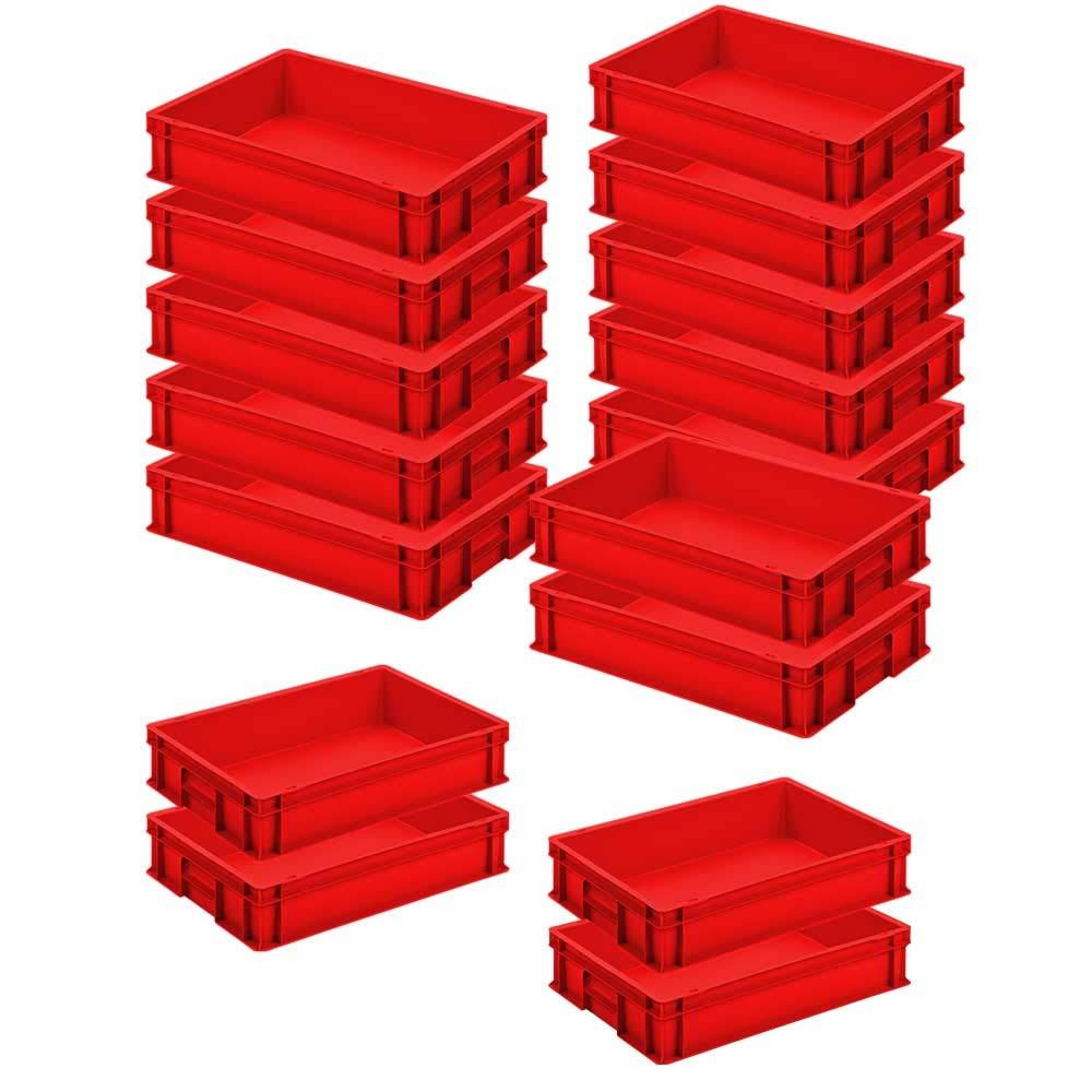 Farbe wei/ß 24 Liter 16x Eurobeh/älter LxBxH 600 x 400 x 120 mm lebensmittelecht PP