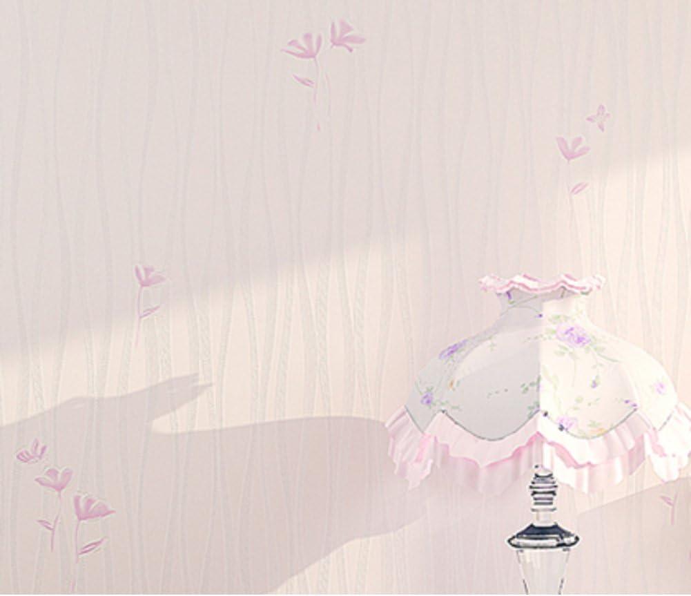 Amazon 韓国パストラル壁紙 寝室warm And Sweet壁紙 プレーンシンプルなストライプ壁紙 小さな花柄リビングルーム壁紙 3dthree Dimensional壁紙 C 壁紙